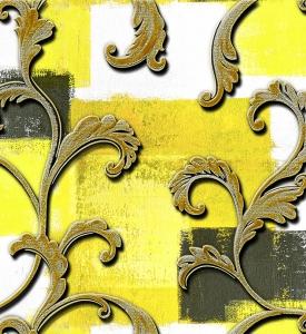 Giấy Dán Tường Soho 5598-1 moldi - Yellow