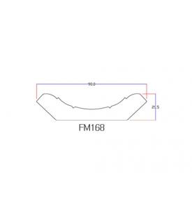 Chỉ viền trần nhà nhựa FM1688