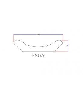 Chỉ viền trần nhà nhựa FM1699